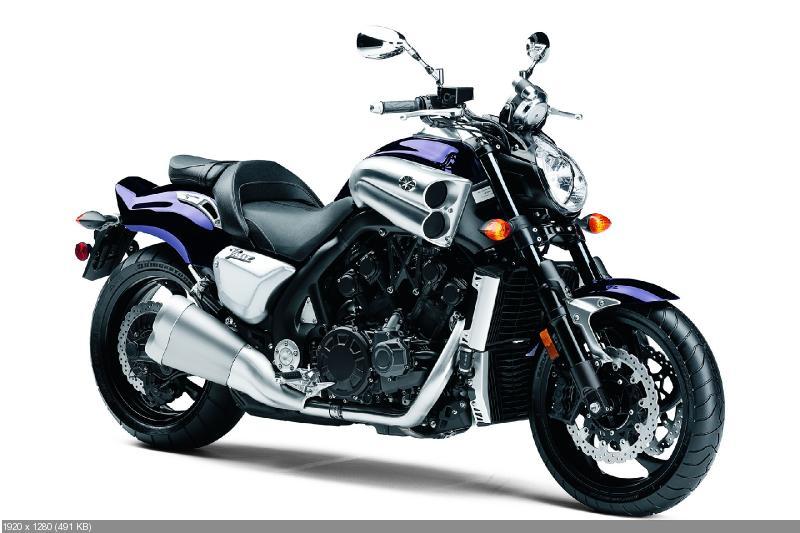 Мускул-байк Yamaha VMAX 2013 (новый фиолетовый цвет)